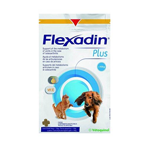 Vétoquinol Flexadin Plus per Cani di Taglia Piccola e Gatti 30 tavolette