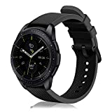 Fintie Correa Compatible con Samsung Galaxy Watch Active2/Galaxy Watch Active/Galaxy Watch 42mm/Gear Sport/Gear S2 Classic - 20mm Pulsera de Repuesto de Silicona Suave Banda Deportiva, Negro