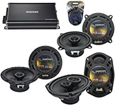 Compatible with Cadillac DeVille 2000-2005 OEM Component Speaker Upgrade Harmony & CXA300.4 Amp (Renewed)