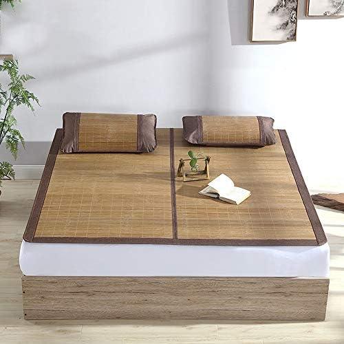 Tapis de Nuit d'été, Tapis de lit Double en Bambou, rotin, Chambre climatisée, Tapis de Couchage Pliable, Simple Double Paille rotin Mat Mat (Size : 180x200cm)