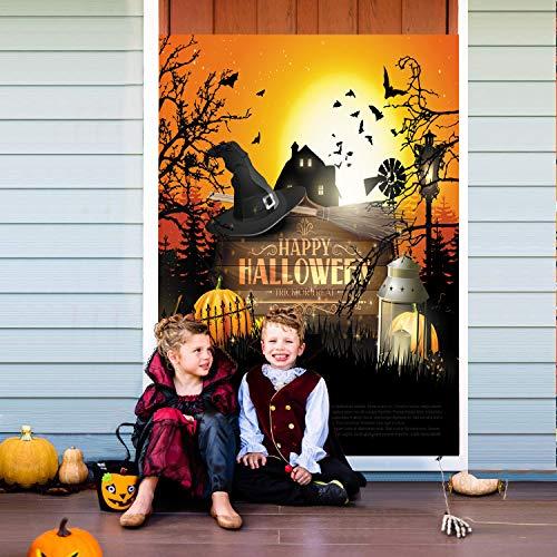 Fondo fotográfico de Halloween Fondo de fotografía de fantasma de calabaza para estudio fotográfico de decoración de fiesta de Halloween(2770)