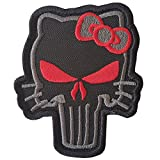 2AFTER1 ACU Subdued Punisher Hello Kitty Morale Tactical Embroidery Skull Touch Fastener Patch
