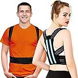 Haltungskorrektur Rücken Geradehalter für Herren Damen, Verstellbare Rückenstütze Haltungstrainer mit 2 Schienen, Verbesserung der Körperhaltung und Schmerzlinderung von Nacken Rücken Schulter -