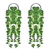 Boic 2 Piezas de Hiedra para Colgar La Pared de Plantas Artificiales, Adecuada para Decoración De Interiores y Exteriores, También se Puede Utilizar como Pared / Dormitorio / Jardín