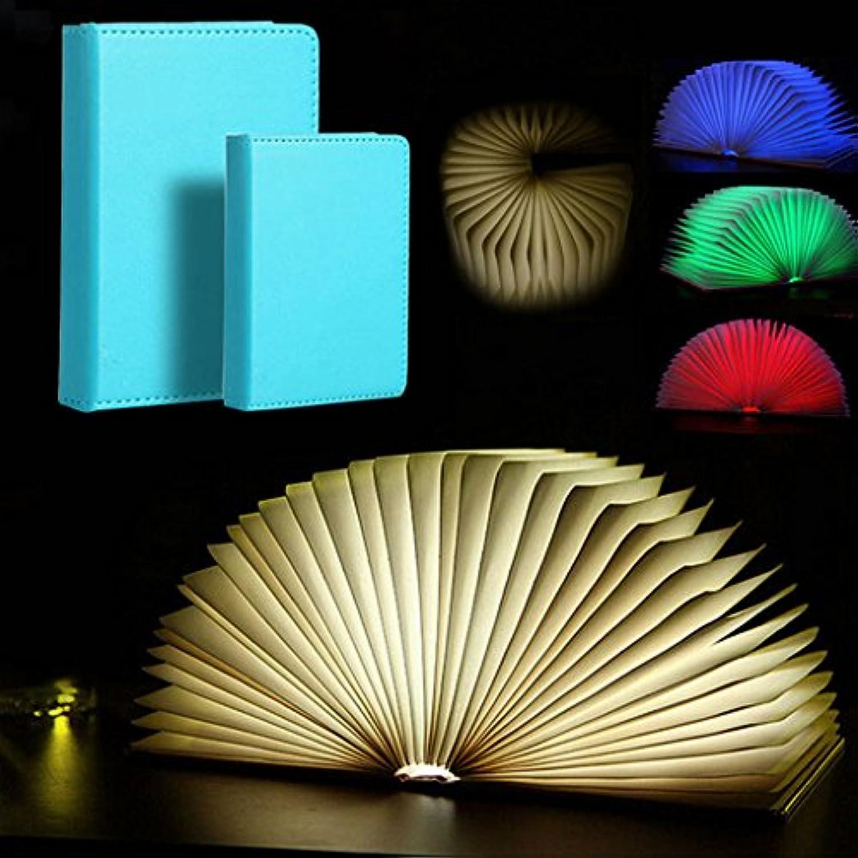 QQB &die Tischleuchte Faltende Buch-Lichter, USB-aufladenbuchfrmiges Licht-Tabellen-Lampen-Leselicht, -4 Farbe (gre   22  16  2.5CM)
