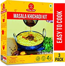 EL The Cook Indian Kitchari Kit, 8.6 Oz, with Tempered Spice Mix, All Natural, Vegetarian Meal Kit, Serves 2, Ready to Cook, Pack of 3