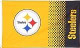 Flagge NFL Pittsburgh Steelers Fan - 90 x 150 cm, + gratis Aufkleber, Flaggenfritze®