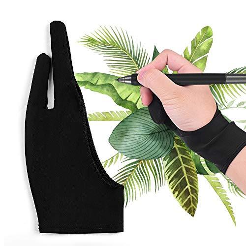 Aibecy Skihandschoen met twee vingers, vrij van korstheid, vermindert wrijving, ideaal voor de rechter- en linkerhand, compatibel met UgeeHuionGaomanBosto grafische tablet