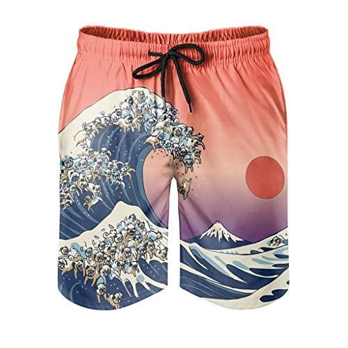 Ktewqmp Zomer zwembroek Japan Wave mannen zwembroek baden shorts man met zakken sport