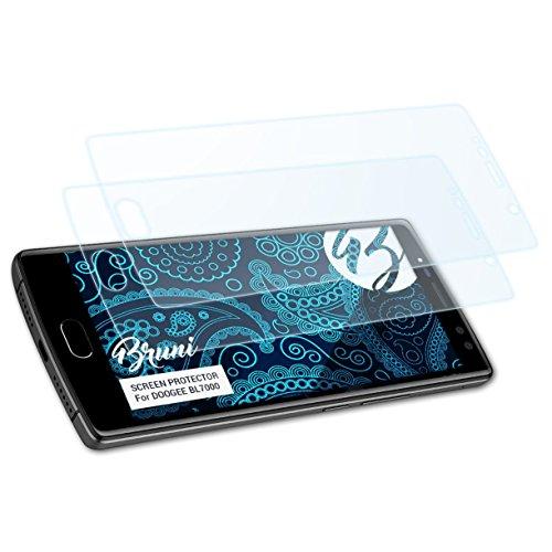 Bruni Schutzfolie kompatibel mit DOOGEE BL7000 Folie, glasklare Bildschirmschutzfolie (2X)