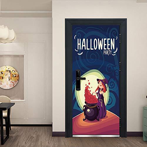 Heks maken verfijnen gif deur Sticker zelfklevende muurschildering foto muursticker Vinyl waterdichte deur Sticker woonkamer keuken slaapkamer deur decoratie 95x215cm
