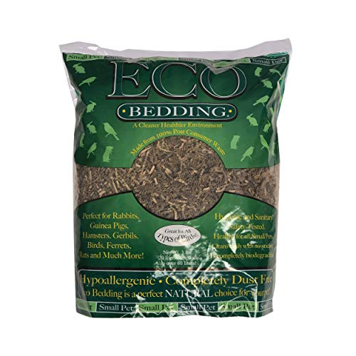 ECO BEDDING FiberCore, Dust Free Paper Bedding for Small Pets, Made in The USA, 3lb/20L Expands to 60L, Natural