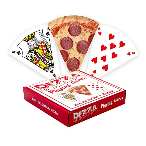 GAMAGO Pizza Playing Cards - Pizza Shaped Deck of Cards to Play Your Favorite Card Games - Cute Gift for Birthdays, Stocking Stuffers, White Elephant, and Holidays Gifts
