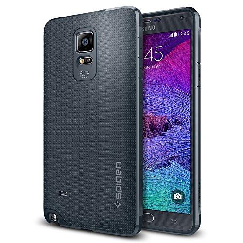 Spigen Galaxy Note 4 Case, [Strong-Flex] Galaxy Note 4 Case SoftNEW [Ultra Capsule] [Metal Slate] Premium Flexible Soft TPU Case for Samsung Galaxy Note 4 (2014) - Metal Slate (SGP11112)