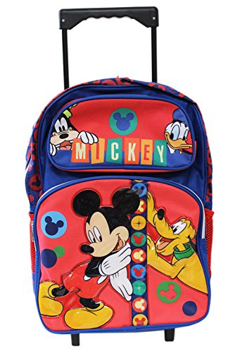 Disney Mickey Mouse and Friends 16' School Rolling Backpack