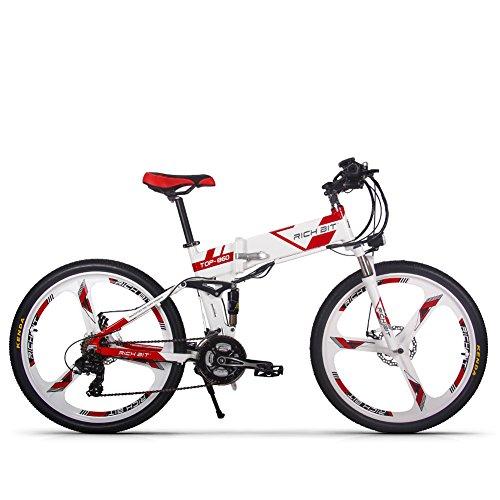 RICH BIT Bicicleta eléctrica RT860 250W * 36V * 12.8Ah Bicicleta Plegable Shimano Bicicleta...