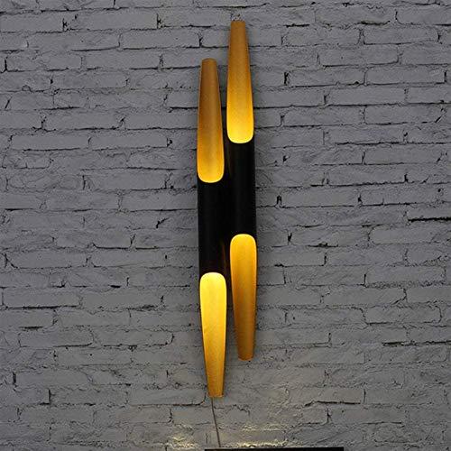 Lámpara de pared Retro Aplique, Lavado de pared Luces hacia abajo Luminaria Moderno Industrial Negro Inside Lámpara de pared de oro GU10 Diseño de aluminio Diseño de la pared Sconce para sala de estar