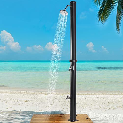 JAXPETY 7.2Ft Solar Heated Shower Outdoor w/Head Temperature...