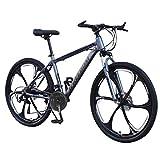 LINKIOM 26in Carbon Steel Mountain Bike 24 Speed Bicycle Full Suspension MTB