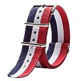 Correa de reloj estilo OTAN, de nailon balístico impermeable