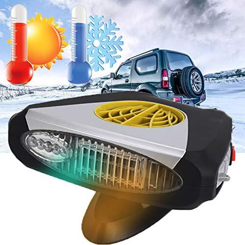 SM&M Mini Stufetta Portatile per Auto, Riscaldamento Auto 300W Auto Termoventilatore con purificazione dell Aria Riscaldamento 12V 24V per Auto,Collegare All accendisigari,Nero,12v