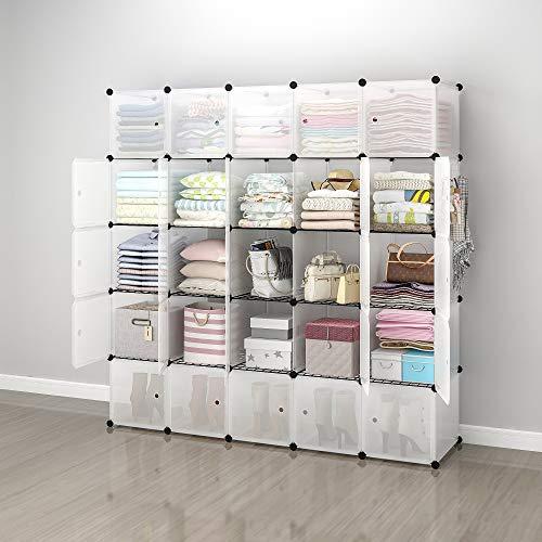 Hommoo Wood Bookshelf Open Shelf Bookcase 6 Cubes Organizer,3-Tier Modular Book Shelf Storage 3-2-1 Office Storage Rack,Dark Brown