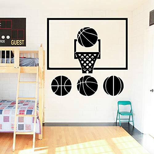 SLQUIET Moderne basketball applique abnehmbare vinyl wandaufkleber poster dekoration wohnzimmer schlafzimmer abnehmbare diy pvc dekoration zubehör mode aufkleber rot 30x31 cm