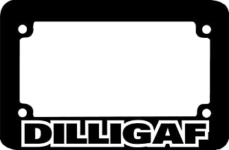 Billion_Store DILLIGAF Motorcycle License Plate Frame Unique Accessories for Tuning Cool Tuning