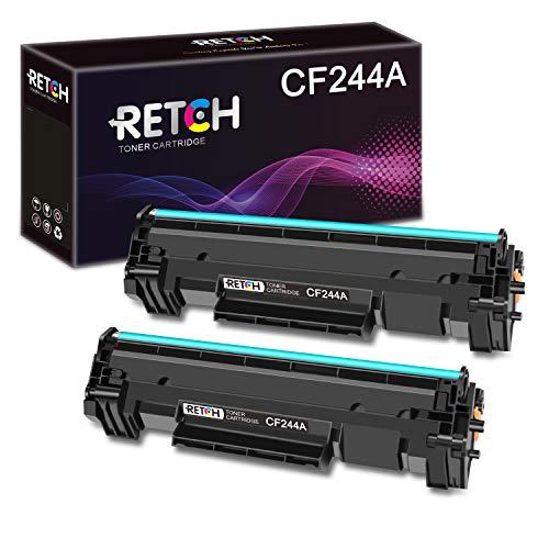 RETCH Cartuchos de tóner 44A compatibles con HP CF244A para impresoras HP Laserjet Pro M15w HP Laserjet M15a Laserjet Pro MFP M28w HP MFP M28a (2 negros)