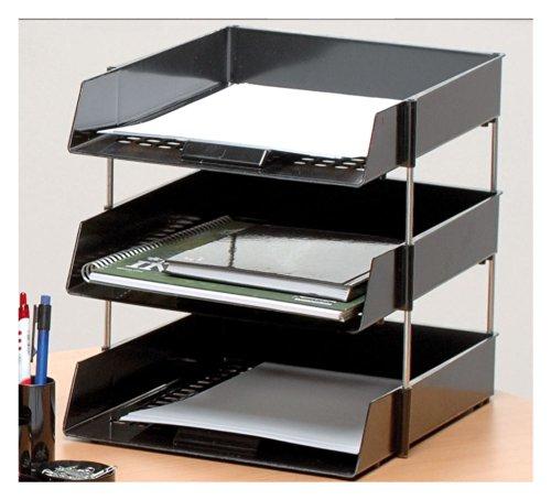 officeforce 3schwarz A4/Kanzleipapier Briefablage mit 2Sets Metall-Abstandshalter & Gratis officeforce