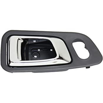 Amazon Com Interior Door Handle Compatible With Honda Pilot 03 08 Front Lh Inside Chrome And Fern Dark Gray Plastic Automotive