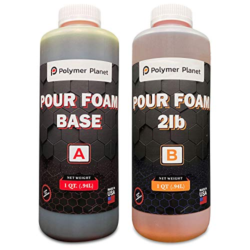 Polymer Planet Liquid Urethane - 2-Part Closed Cell Rigid Pour Foam - 2 Lb Density - Fast-Acting Formula - Great for Boat Buoyancy, Flotation, Filling, Soundproofing, Insulation - 1/2 Gallon Kit
