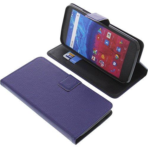 foto-kontor Tasche für Archos Core 55 Book Style blau Schutz Hülle Buch