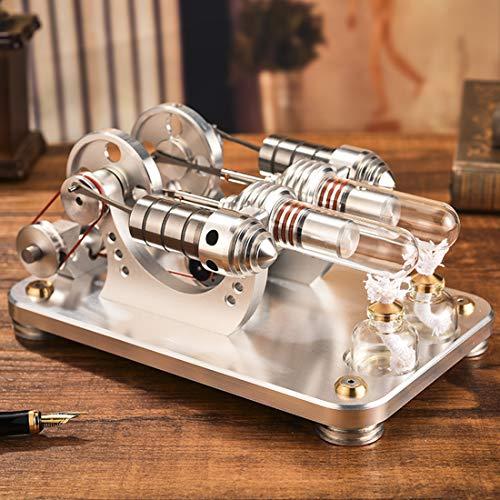 ColiCor Motor Stirling Engine Modell Stirlingmotor Stirling Motor mit Generator Engine Motormodell Lehrreich Physik Spielzeug für Kinder und Erwachsene