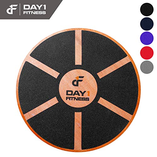 Price comparison product image Day 1 Fitness Balance Board,  360° Rotation,  for Balance,  Coordination,  Posture - Large,  Wooden Wobble Boards with 15° Tilting Angle for Workouts,  Physical Therapy - Premium Core Trainer Equipment