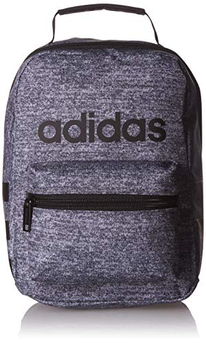 adidas Unisex Santiago Insulated Lunch Bag, Onix Jersey/ Black/ White, ONE SIZE