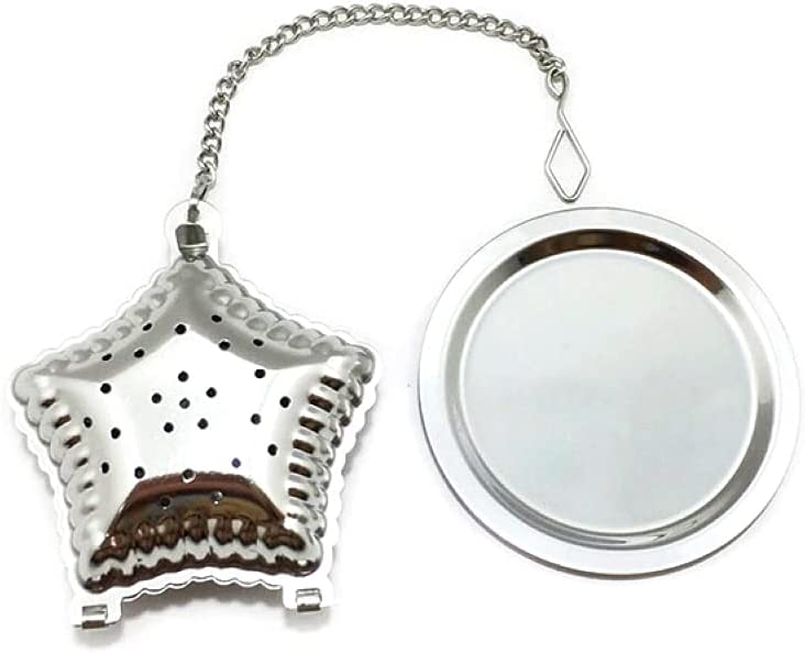 Silver Star Celestial Tea Infuser Hinge 2021new shipping free Metal and Buckle Style Baltimore Mall