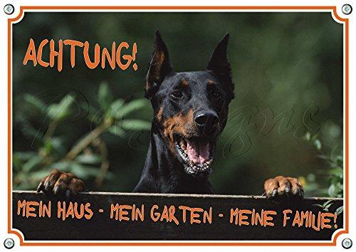 Petsigns Dobermann - Hunde Warnschild - stabiles Metallschild - TOP, DIN A5
