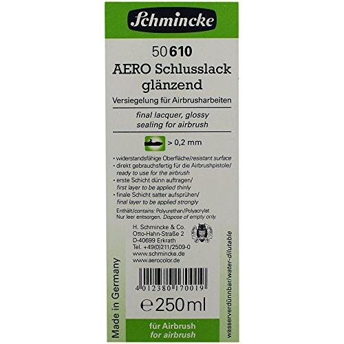 Schmincke Aero lak glanzend 50 610 Airbrush lak 250 ml voor airbrushverf hulpmiddel