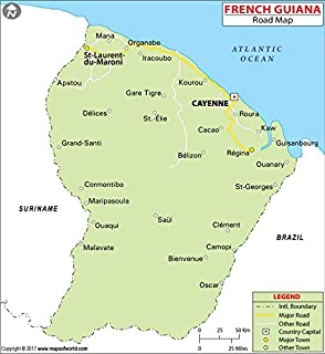 Best world map french guiana Reviews