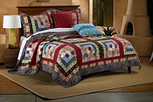 Greenland Home Colorado Lodge Bonus Quilt Set, 4-Piece Twin/Twin XL