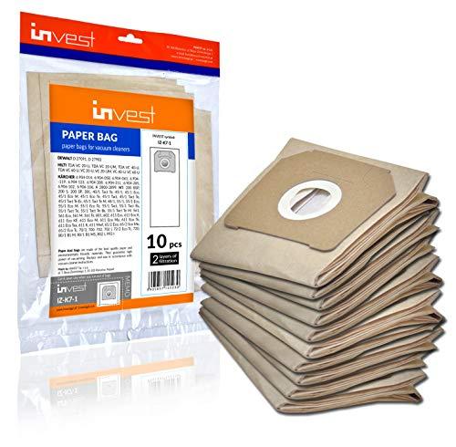 10 Staubsaugerbeutel geeignet für Kärcher 6.904-208, NT 48/1, NT 65/2, NT 72/2