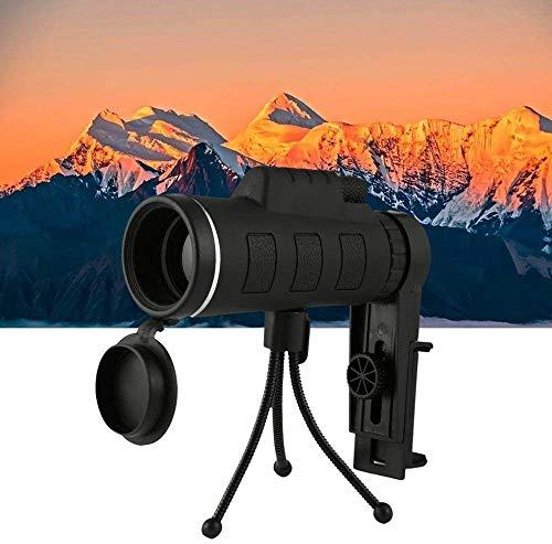 YIQIFEI Telescopio Estelar monocular, Alcance de Prisma de visión Nocturna HD de Gran Angular de 40 x 60 con brújula, Clip para teléfono, trípode para Exteriores (artefacto para Exteriores)
