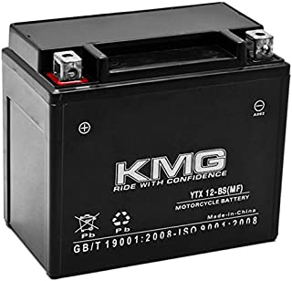 KMG 12V Battery for Honda 250 TRX250 TE TM FourTrax Recon 1997-2012 YTX12-BS Sealed Maintenance Free Battery High Performance 12V SMF Replacement Powersport Battery