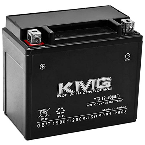 KMG Battery Compatible with Kawasaki 900 Vulcan 900 Classic 2006-2012 YTX12-BS Sealed Maintenance Free Battery High PerFormance 12V SMF OEM Replacement Powersport Motorcycle ATV Scooter Snowmobile