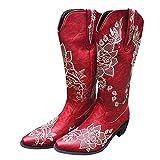 Dasongff Botas altas para mujer con tacón largo, para la nieve, impermeables, retro, elegantes, de invierno, clásicas, para mujer