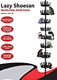 Floor To Ceiling, Narrow Shoes Rack: 8 Tier Revolving Metal Closet Shoe Organizer - Shoe Tree Holds Up To 48 Pairs Of Shoes. Hanging Shoe Organizer For Closet, Wardrobes Or Entryway Shoe Storage