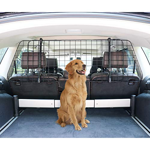 Amazon Basics Adjustable Dog Car Barrier - 16-Inch, Black