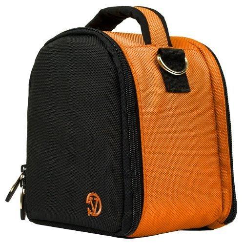 VanGoddy Laurel ORANGE Compact Camera Pouch Cover Bag fits Sony Alpha RX10 II, A7R 2, A7, A7 II, A7R, A7S, A77, A77 2, A65, A58, Cyber-shot HX300 HX200V by Vangoddy
