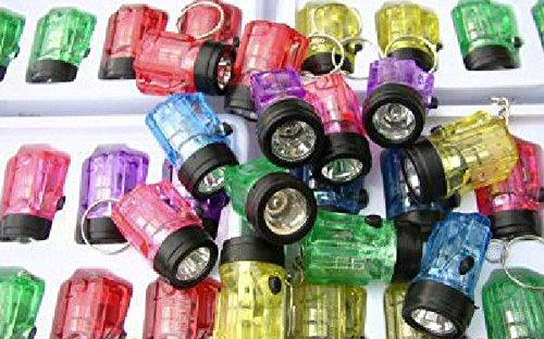 24 x Schlüsselanhänger Taschenlampe Lampe 4cm, inkl. Batterien, hillfield® (24 Stück)